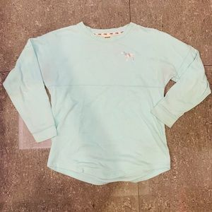 PINK Victoria's Secret Mint Green Crew Sweatshirt